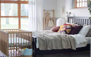 Уголок новорожденного в комнате родителей дизайн