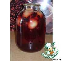 Рецепт компота из яблок и черноплодной рябины
