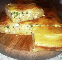 Пирог с картошкой и минтаем в духовке