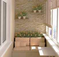 Отделка балкона декоративным кирпичом фото