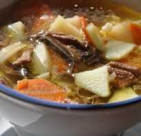 Суп из сушеных подберезовиков рецепт
