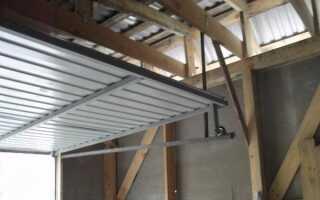 Чертеж подъемно складных ворот для гаража