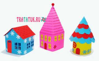 Рождественские домики из бумаги шаблоны