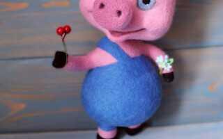 Как сделать пятачок свиньи своими руками