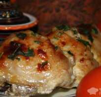 Курица с медом и майонезом в духовке