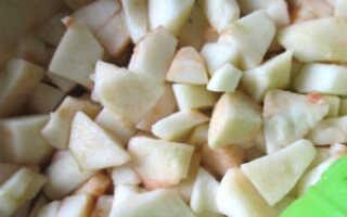 Яблочное пюре в духовке рецепт