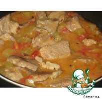 Рецепт мясо с кабачками и помидорами