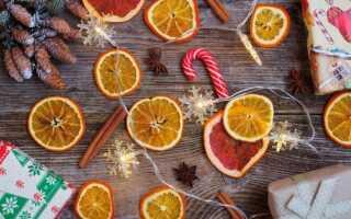 Как высушить апельсины для декора в духовке