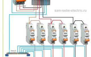 Схема электропроводки 380 в частном доме
