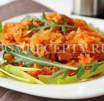 Потушить капусту с курицей на сковороде