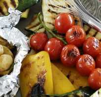 Как приготовить овощи на костре на решетке