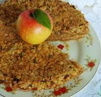 Пирог с овсянкой и яблоками в духовке