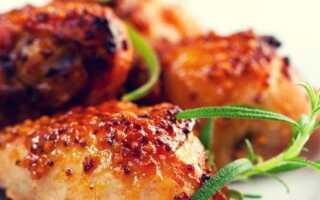Курица в духовке маринованная в горчице