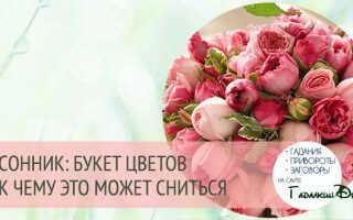 К чему снятся красные цветы в букете