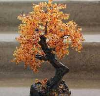 Осеннее дерево из бисера своими руками фото