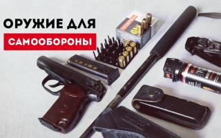 Как выбрать оружие для самообороны: плюсы, минусы и особенности оружия.