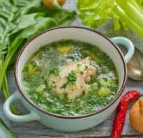 Щи зеленые со шпинатом и яйцом